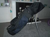 ryder golf clubs with stand bag