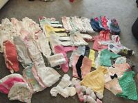 Baby girls 0-3 months clothes bundle.