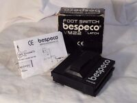 Bespeco VM22 Latching Foot Switch Pedal Guitar / Keyboard