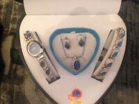 Ladies Watch - Bracelet - Necklace - Earring Set NEW BOXED