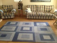 3 Piece Lounge Suite with matching Rug