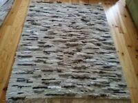 BRAND NEW 100% Wool Large Handmade Rug