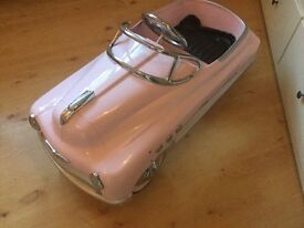 Children's Pink Vintage Pedal Car