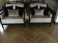 Leather sofa and chairs. Conservatory furniture, great price.