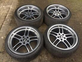 "19"" BMW E38 E39 Staggered M Parallels Alloys 5x120"