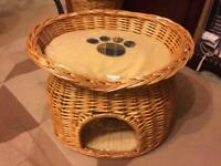 Cat and dog bed basket
