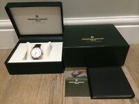 Men's Frédérique Constant Classics Index Automatic Leather Strap Watch BRAND NEW rolex/omega/tag