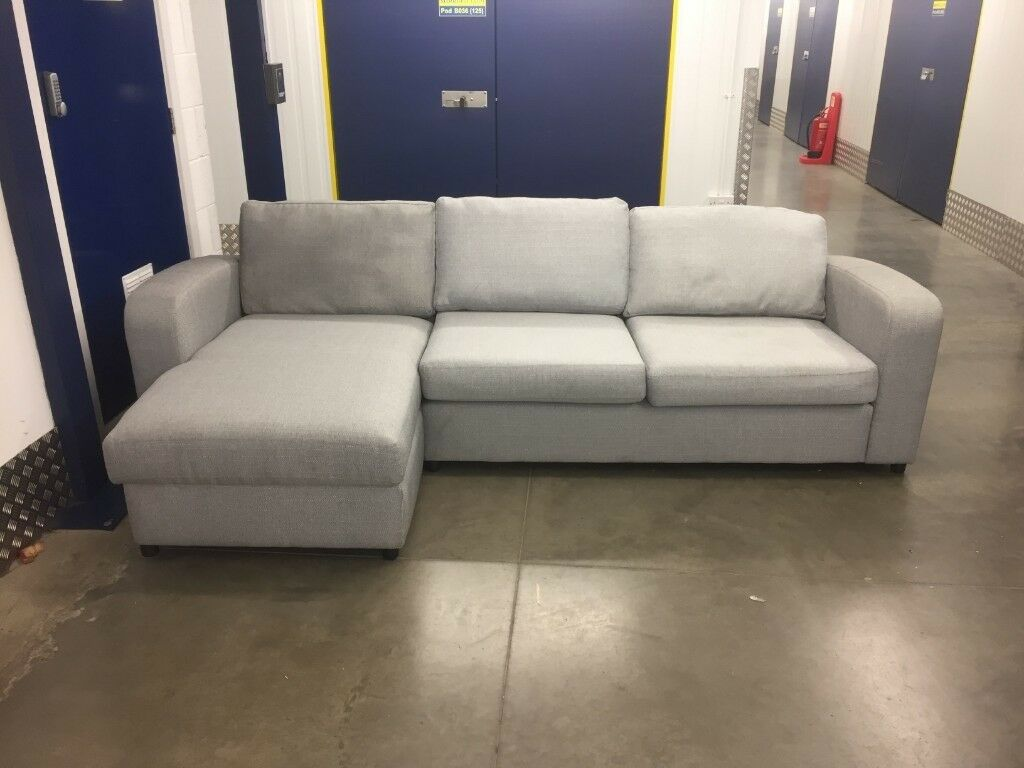 New Ex Display Grey Dfs Lydia Sofa Delivery Available