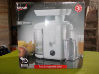 Bifinett Fruit & Vegetable juice extractor. ***Completely unused/As new***