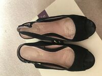 Next Heavenly sole black wedges size 40