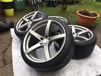 "Brand new 20"" alloys with new tyres 5x120 BMW vw T5"