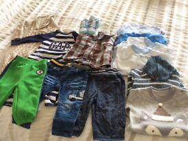 Baby boy's winter bundle 6-9 months