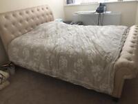Beige king size bed