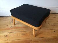 Ercol Footstool Original Light Finish + New Cushion Reupholstered