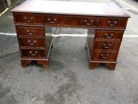 Antique Pedastal Reproduction Desk