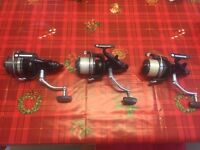 NEW SHAPE - 3 x SHIMANO LONG CAST XTA CARP PIKE CATFISH REELS . Just £270