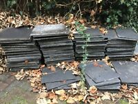 Large black floor tiles - FREE