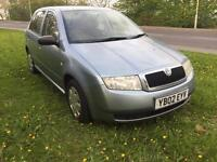 2002 SKODA FABIA BLACKLINE. 1.4 LITRE PETROL. ONE OWNER FROM NEW.