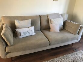 DFS 3 and 2 seater sofa set in cream/mushroom excellent condition