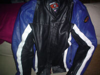 Australian Leathers jacket...suit blue and white xjr1300 or gsx1400