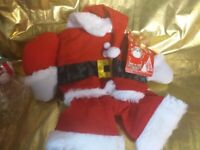 Dog costume Christmas suit santa tagged.collect aberbargoed new