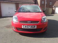 2008 '57' FIESTA 1.25 STYLE CLIMATE ONLY 60K S/H MOT JANUARY 2017