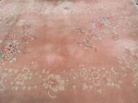 Large Quality Rug (Wool & Silk) 12ft x 9ft