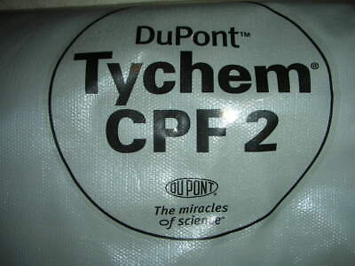 Dupont Tychem Cpf2 Hazmat Coverall Suit With Hood Sizexl 1pc.