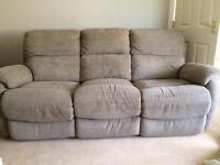 DFS 3 Seater sofa and armchair