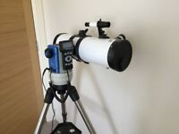 "Twinstar White 4.5"" iOptron Computerised GPS Reflector Telescope with Tripod"