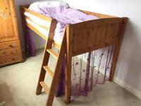 Raised single bed