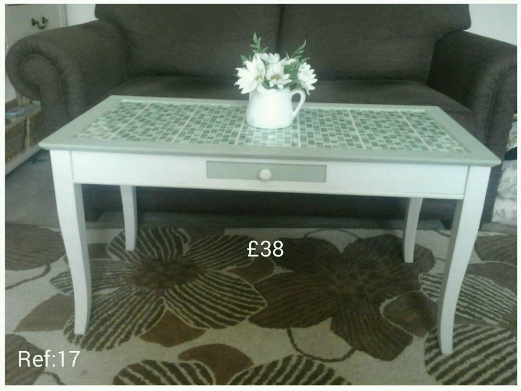 Coffee Table With Centre Drawer.