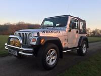 JEEP WRANGLER 2002 4.0 GRIZZLY SOFT TOP 77K WITH FULL HISTORY.. LPG GAS CONVERSION. 1 YEARS MOT.