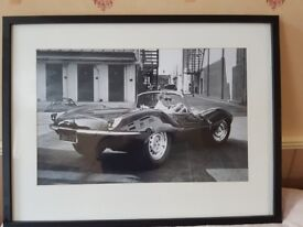 Steve McQueen in E Type' Framed Memorabilia, 33 inches by 25 inches