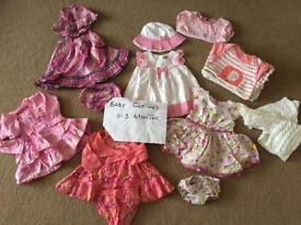 Girls summer Bundle 0-3 months