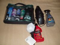 JOBLOT OF CAR CLEANING ITEMS POLISH IN CAR HOOVER WASH LOTS MORE ALL BRAND NEW IN PACKETS