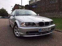 BMW 3 Series 2.0 318 Ci 2 dr 2002 (02 reg), Coupe Automatic 1995cc Petrol+Full Service History