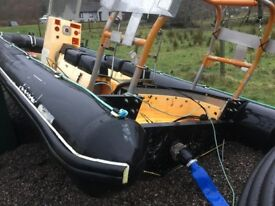 Plastic fusion marine work boat