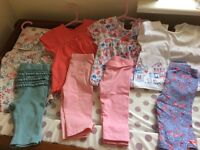 Baby girls clothes bundle 4 tops with matching leggings