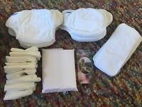 Mother-ease / Motherease Fitted Cloth / Reusable Terry Nappy Full Set