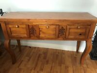 Solid Antique Pine Sideboard