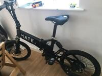 Mate electric folding bike