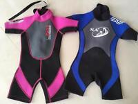 Kids shortie wet suits £5 each