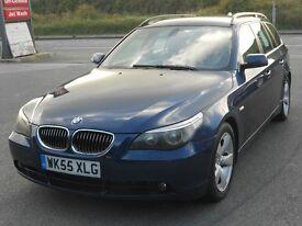 BMW 525D SE TOURING AUTO ESTATE, 2005 '55 REG, TURBO DIESEL, 128'000 MILES, BLUE, NEW MOT, BARGAIN