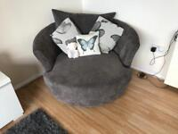 3 seat lounger sofa and swivel chair