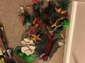 Playmobil dinosaur, volcano set.
