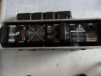 beringer europower ep1500 sterio power amp with flight case
