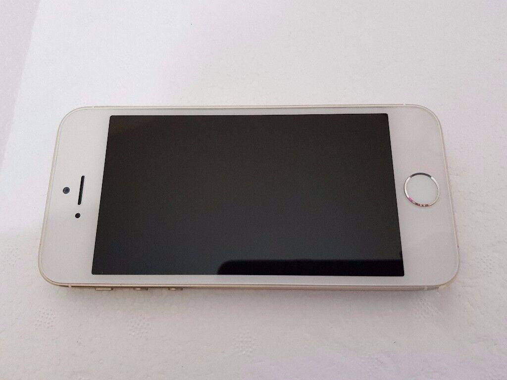 Apple iPhone 5s 16GB Gold EE/Orange/T-Mobile Vigin Mobile V Good Condition Fingerprint Sensor Fault