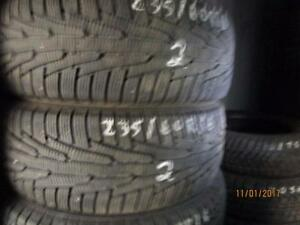 235/60R16 2 ONLY USED NOKIAN WINTER TIRES