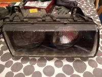 bmw e36 headlight, e36 headlamp, bmw headlight, passengers side.